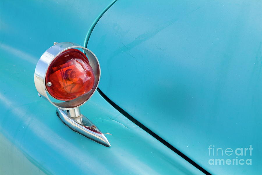 American Photograph - Light Of A Classic American Car by Sami Sarkis