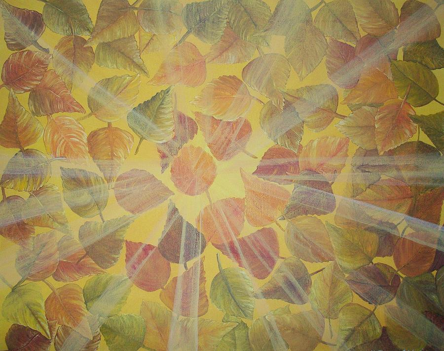 Artist Painting - Light Of Fall by Lula Becraft