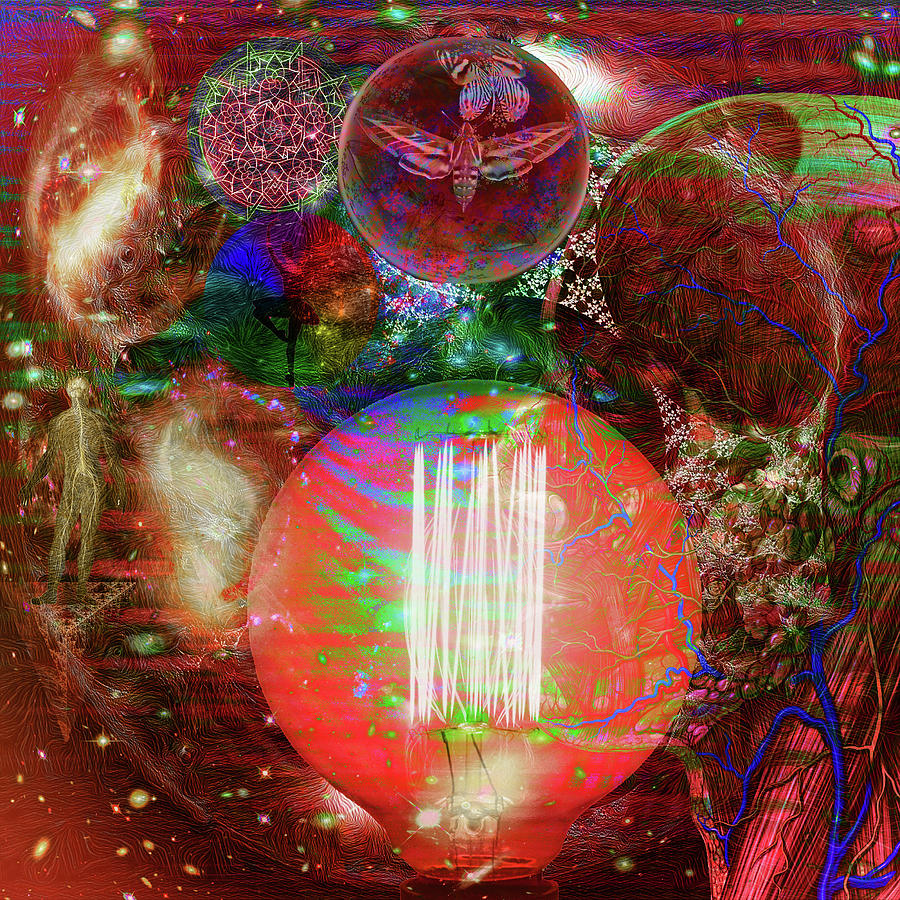 Multi-dimensional Digital Art - Light Of Man Multidimentional Sight by Joseph Mosley