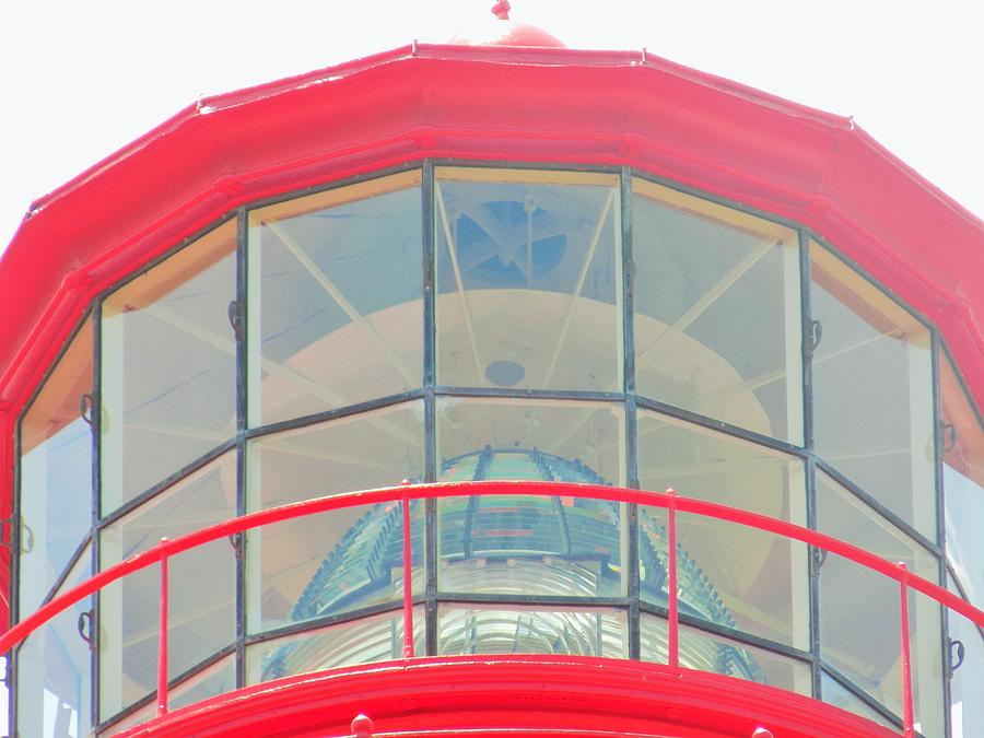 Red Photograph - Light Of The Lighthouse by Sarah Barba