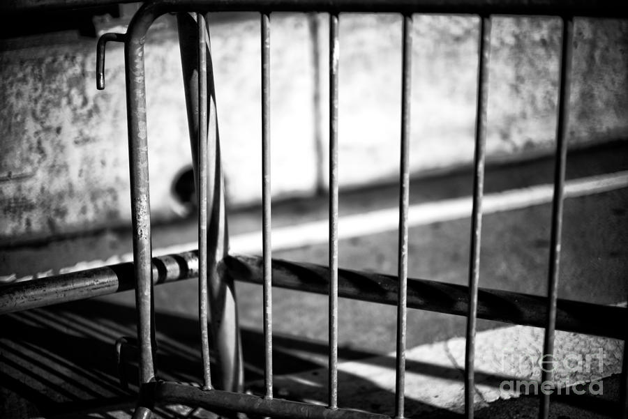 Barrier Photograph - Light On The Barrier by John Rizzuto