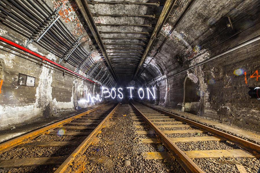 Boston Photograph - Light Painting by Ryan McKee