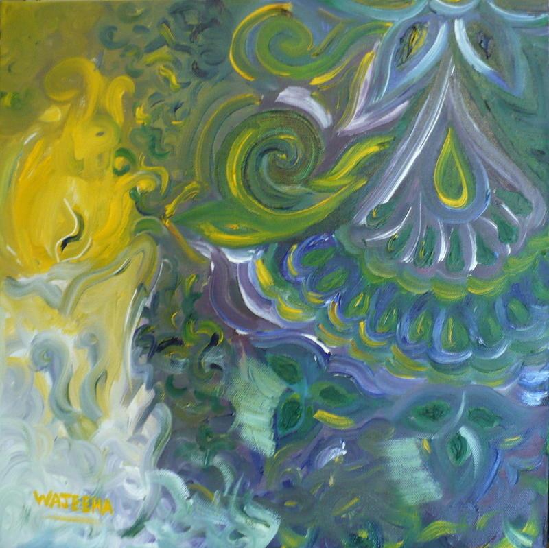 Oil Painting - Light Patterns by Wajeeha Zarrar