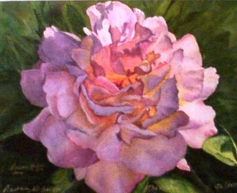 Light Pink Painting by Barb McGee