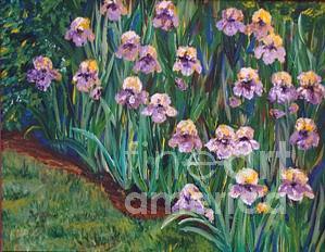 Iris Painting - Light Purple Iris by Kasondra Johnston