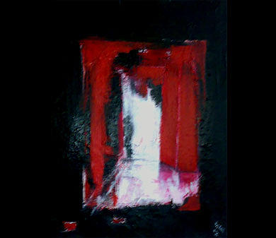 Abstract Figurative Painting - Light Red by Talal  Ghadban