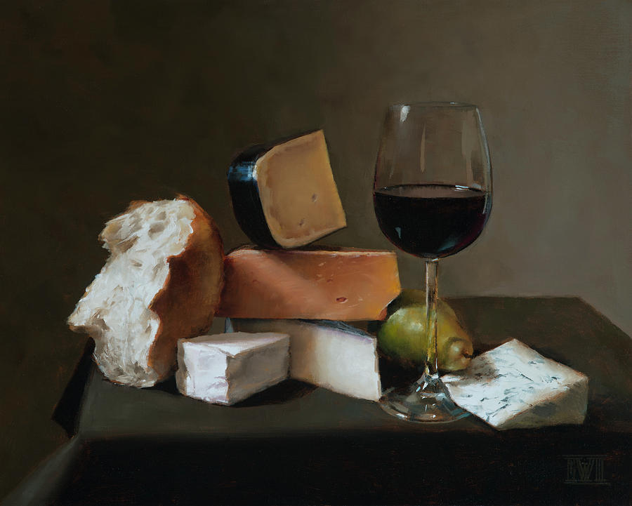Still Painting - Light Repast by Ernest Vincent Wood III