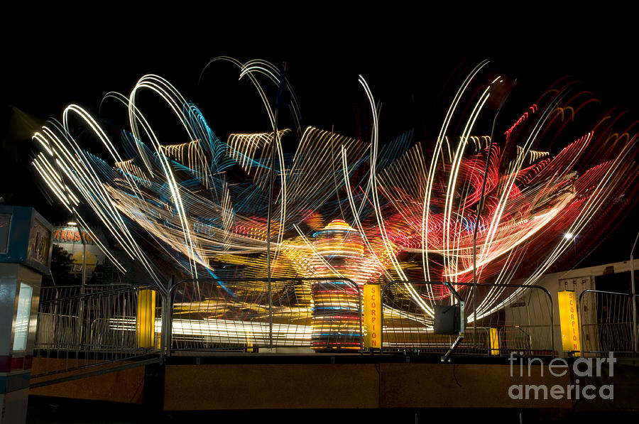 Tilt-a-whirl Photograph - Light Spin by Alicia White