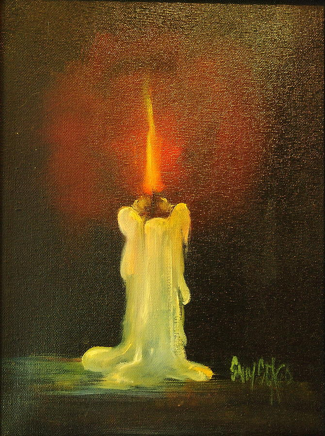 Candles Painting - Light The Way by Sally Seago