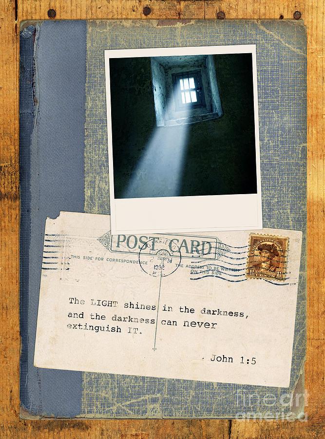Bible Verse Photograph - Light Through Window And Scripture by Jill Battaglia