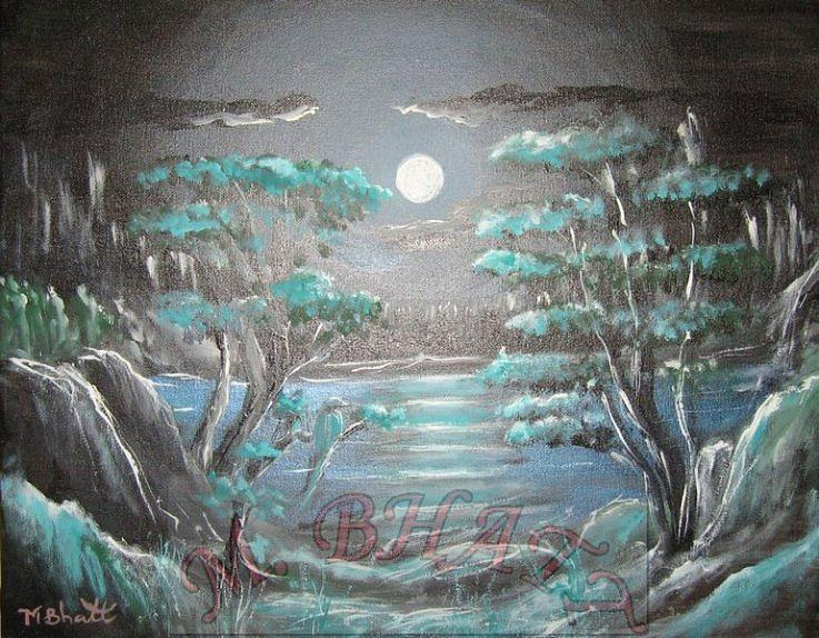 Nature Painting - Light Touches Edges by M Bhatt