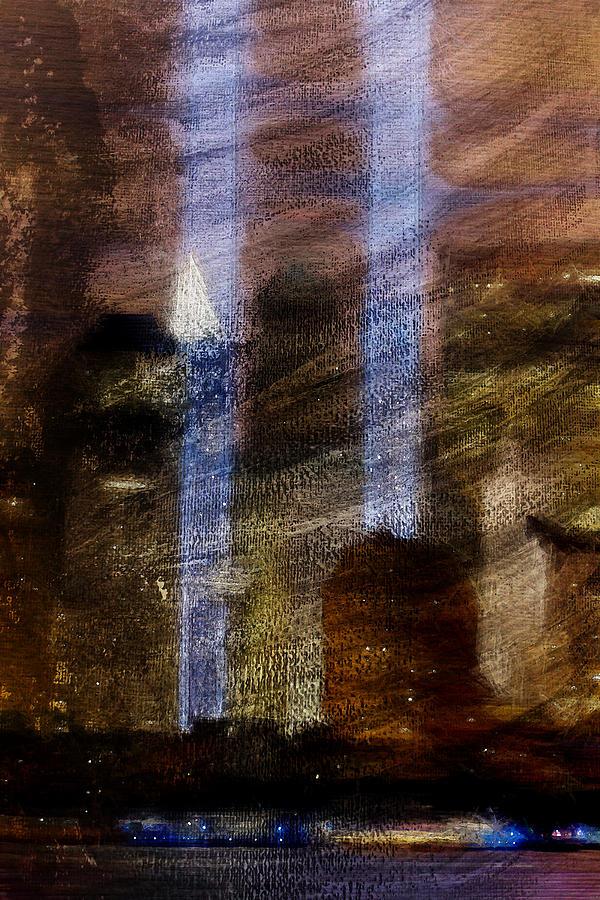 9 11 Digital Art - Light Towers by Andrea Barbieri