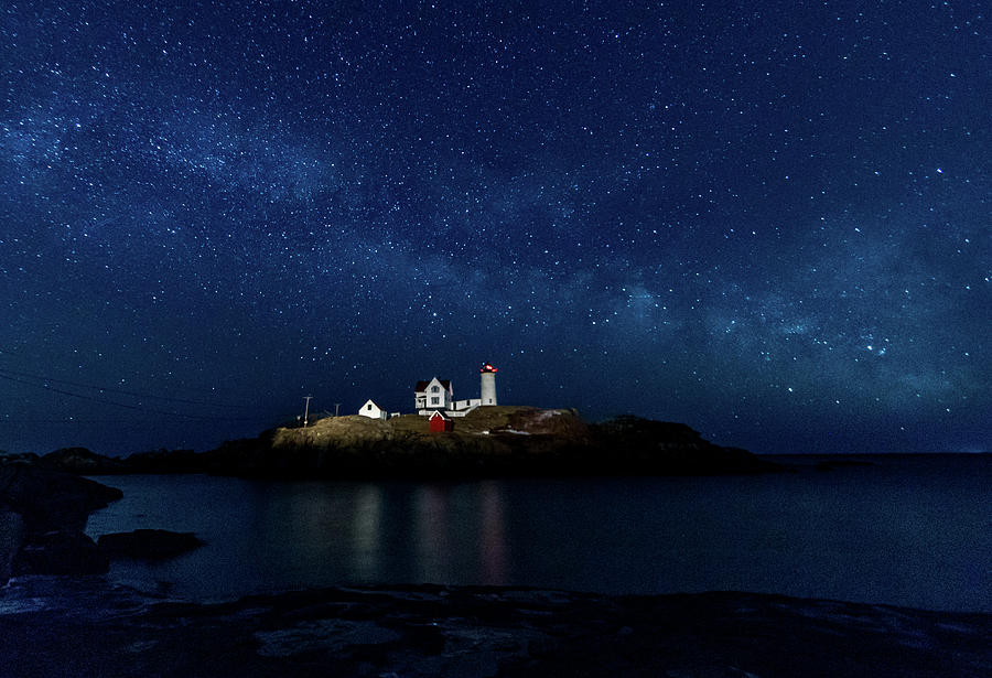 Light up Nubble Lighthouse by Darryl Hendricks