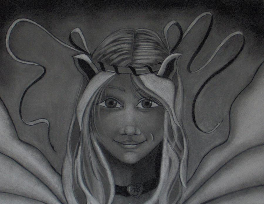 Fairy Drawing - Light Up The Darkness by Tori  Reynolds