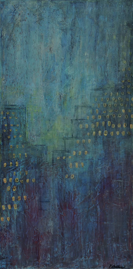 Canvas Print Painting - Light Up The Night by K Batson Art