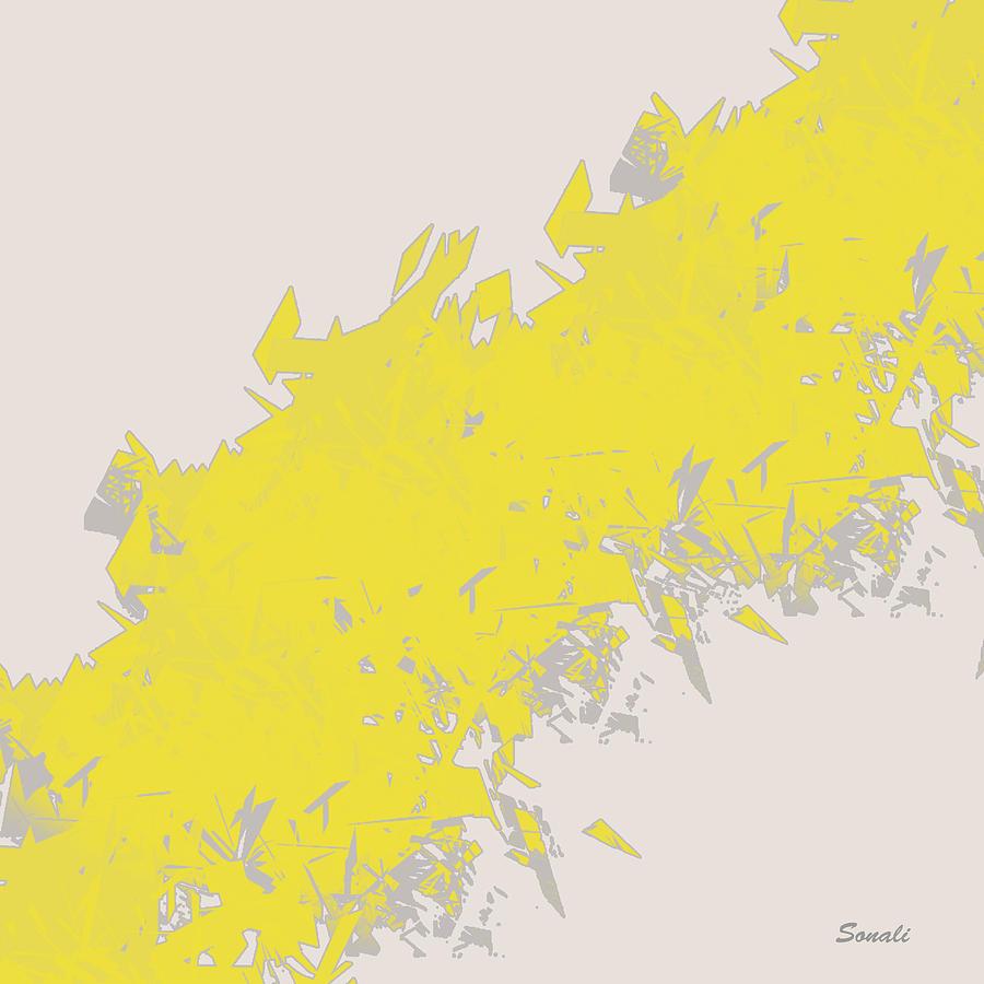 Yellow Painting - Lightening by Sonali Kukreja