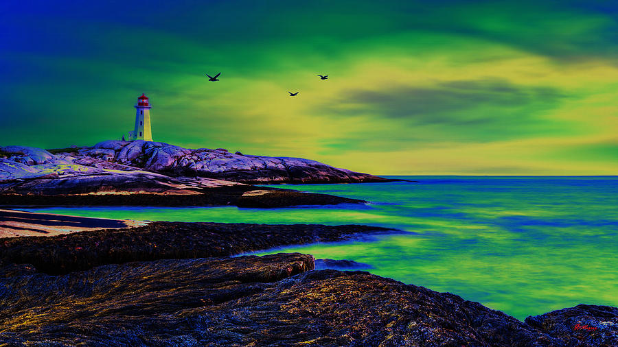 Water Digital Art - Lighthouse 4 by Gregory Murray