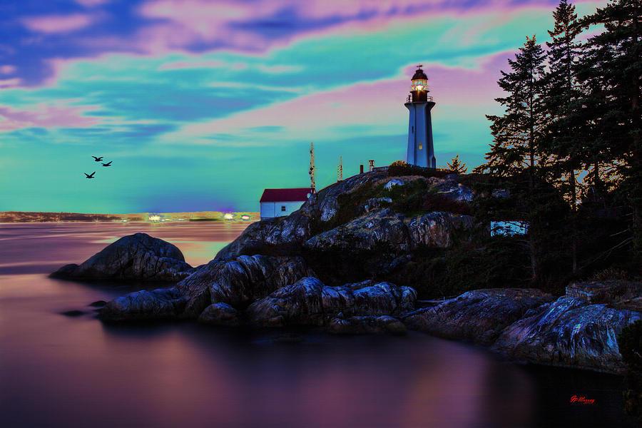 Ocean Digital Art - Lighthouse 5 by Gregory Murray