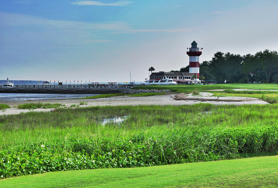 Lighthouse at Harbour Town by Lyle  Huisken