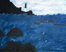 Lighthouse At Hunting Island Sc Print by Edward  Grimaldi