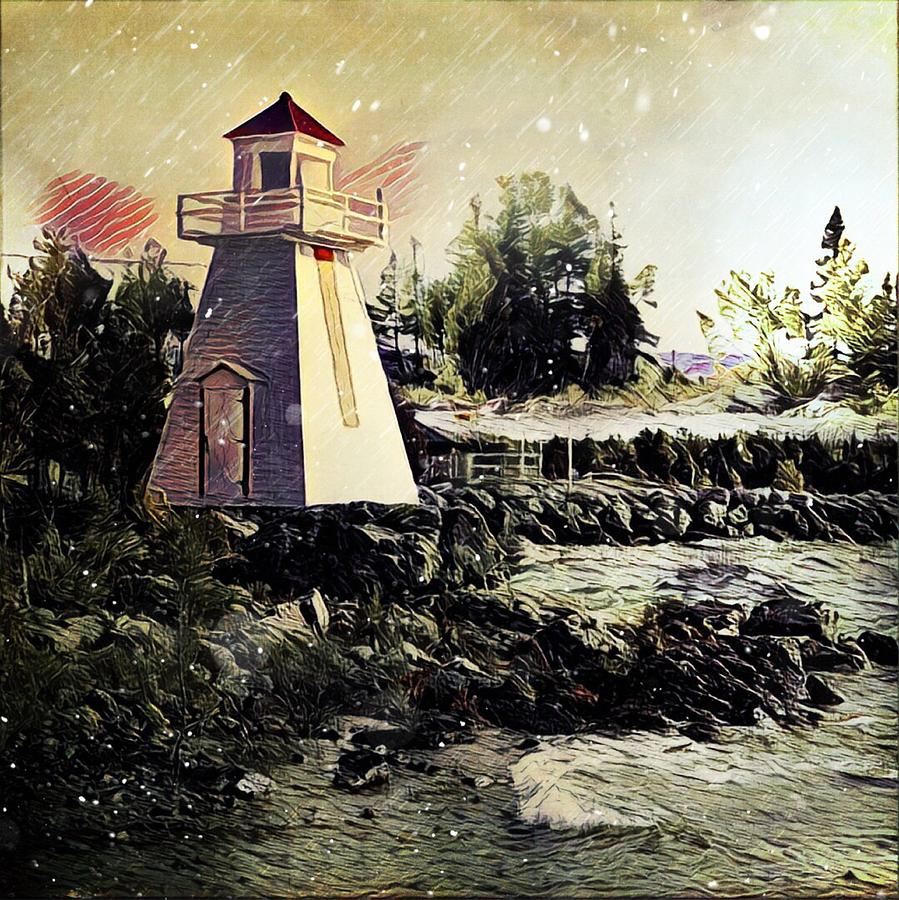 Lighthouse at South Baymouth by Julius Reque