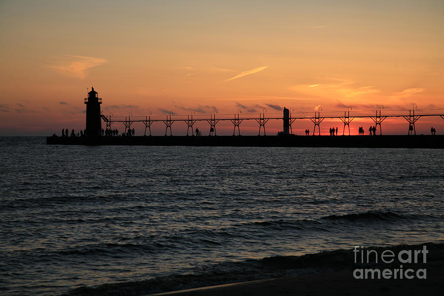 Lighthouse Photograph - Lighthouse At Sunset by Timothy Johnson