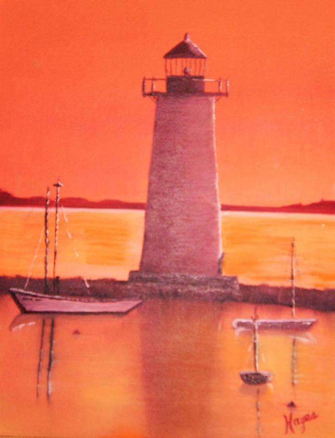 Lighthouse Painting - Lighthouse by Barbara Hayes