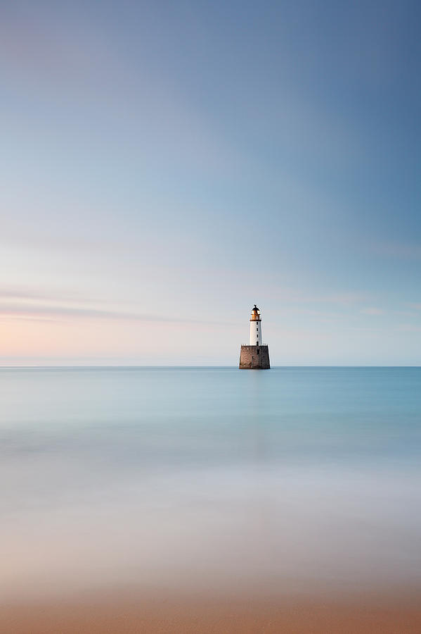 Lighthouse Photograph - Lighthouse Blues by Grant Glendinning