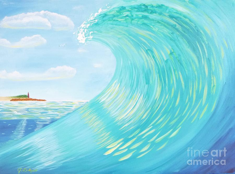 Lighthouse Curl by Jenn C Lindquist