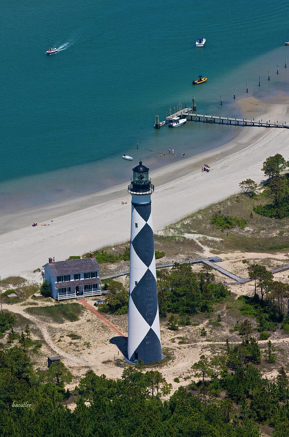 Cape Lookout Photograph - Lighthouse From Above by Betsy Knapp