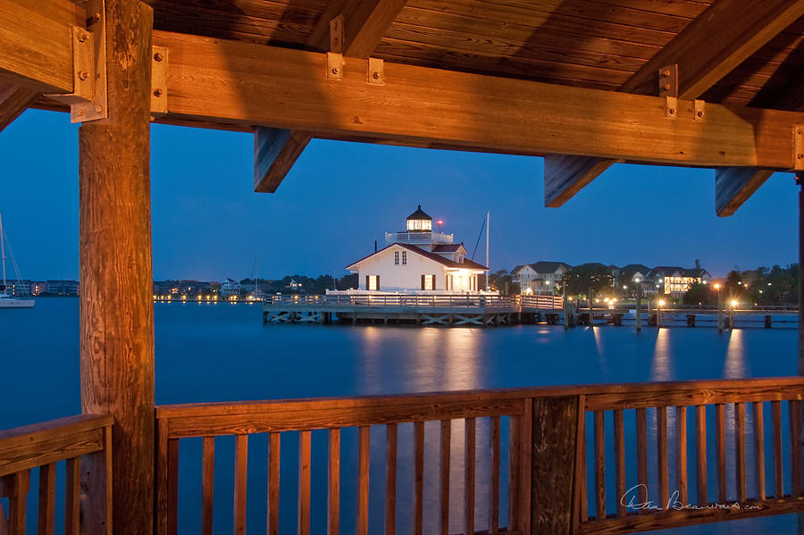 Lighthouse From The Gazebo 5436 Photograph