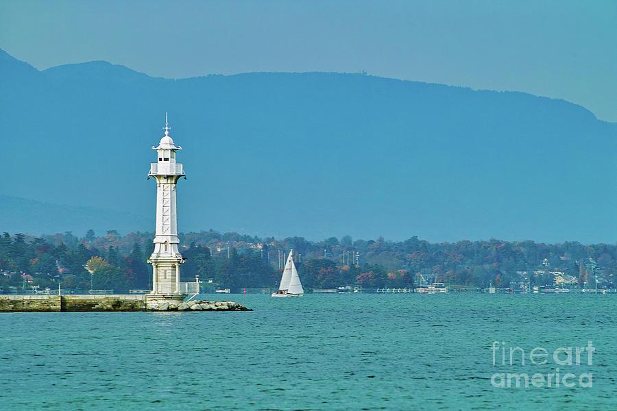 Lighthouse Geneva Switzerland Europe Photograph
