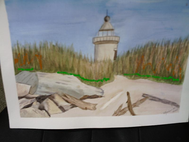 Lighthouse Painting - Lighthouse In The Sand by Georgina Brandt