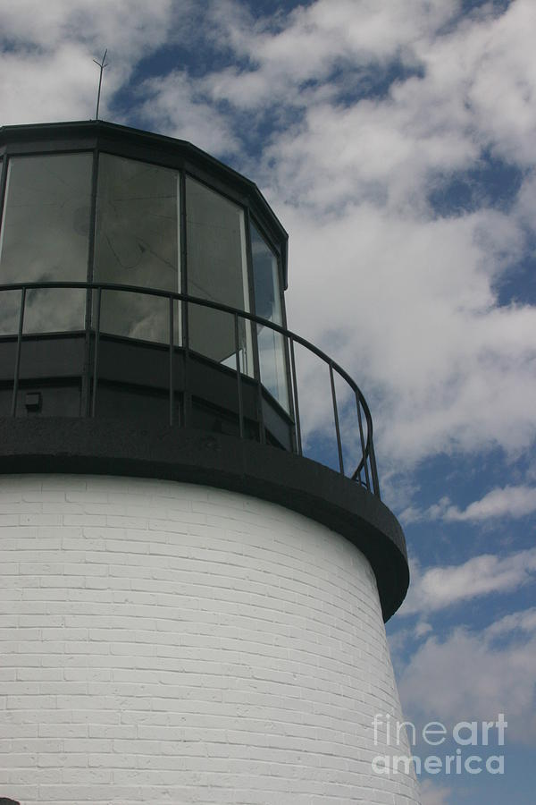 Lighthouse Photograph - Lighthouse In The Sky by Dennis Curry