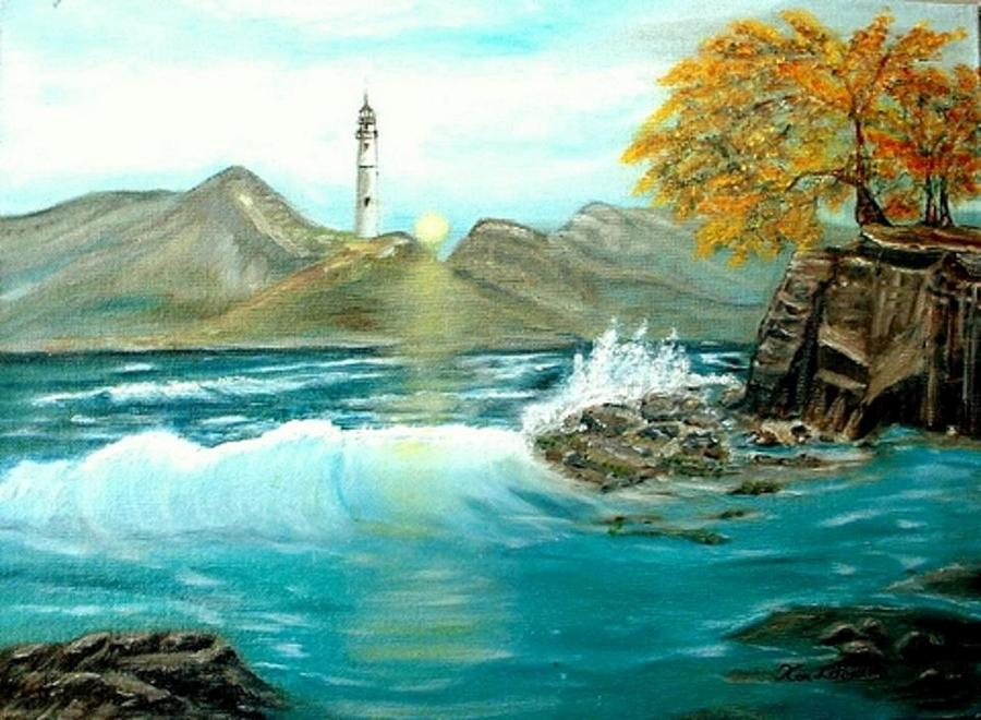 Lighthouse Painting by Kenneth LePoidevin