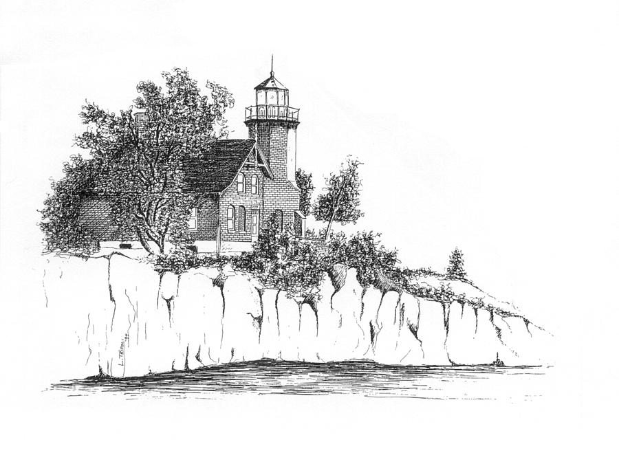 Lighthouse Drawing - Lighthouse by Lawrence Tripoli
