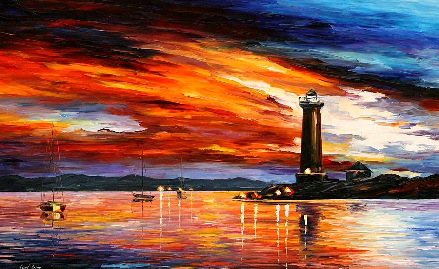 Afremov Painting - Lighthouse by Leonid Afremov