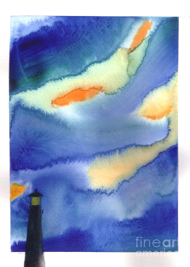Lighthouse Painting by Mui-Joo Wee