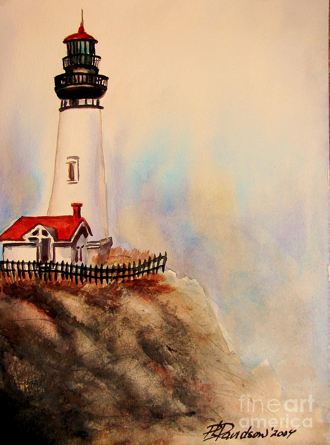 Lighthouse Painting - Lighthouse Point by Patricia L Davidson