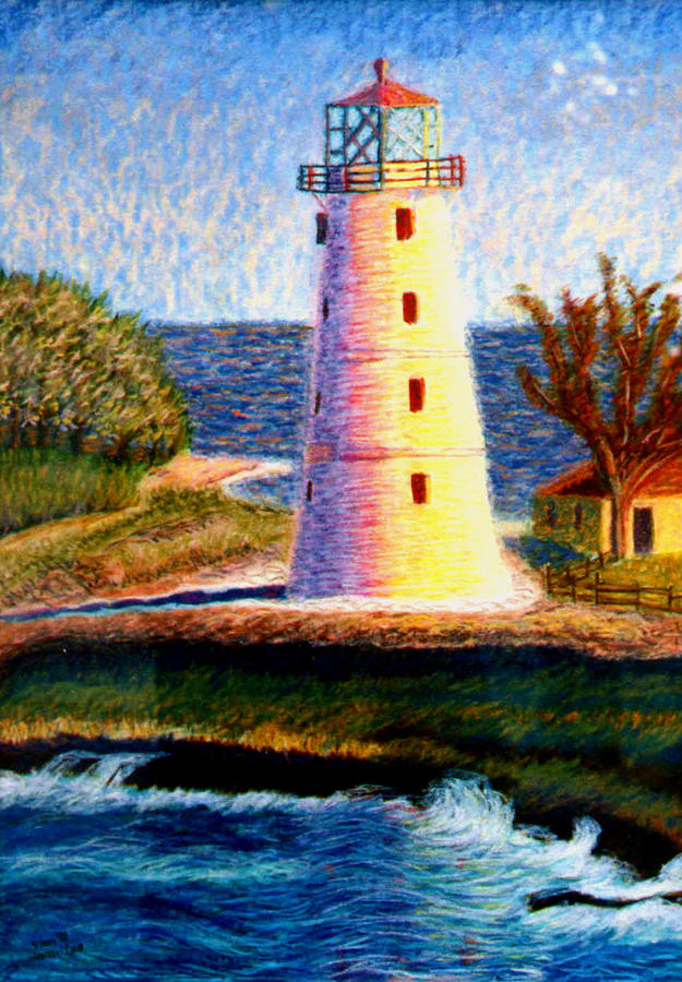 Lighthouse Painting - Lighthouse by Stan Hamilton