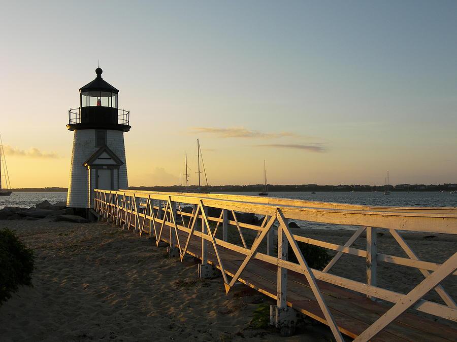 Nantucket Photograph - Lighthouse Sunrise by Mark Siciliano
