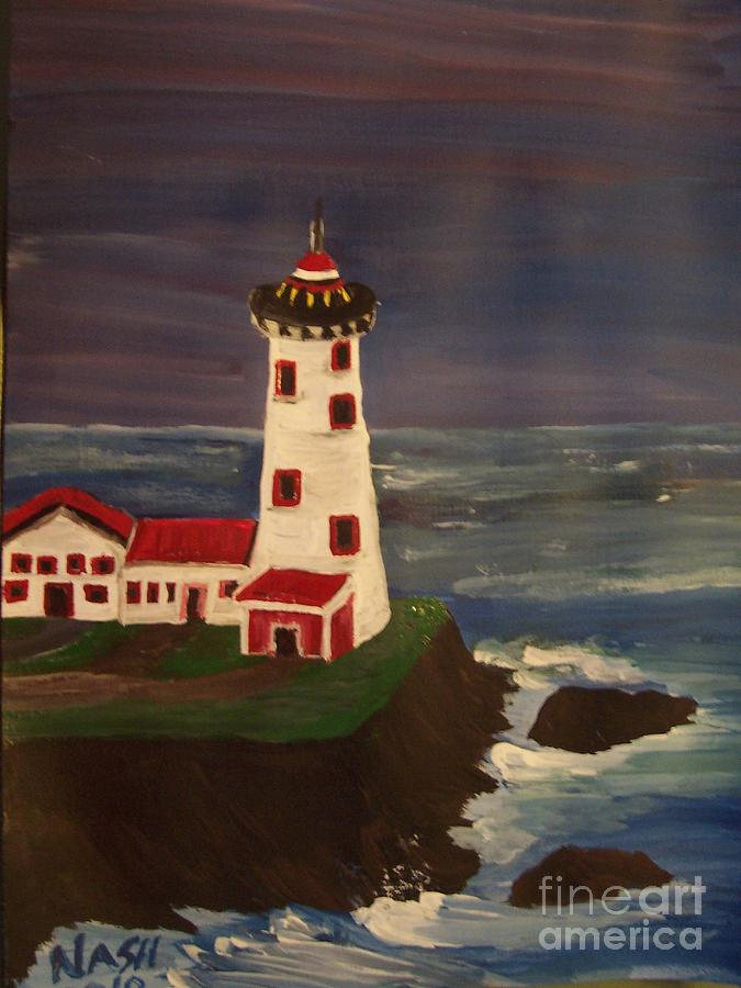 Lighthouse Painting - Lighthouse by Teresa Nash