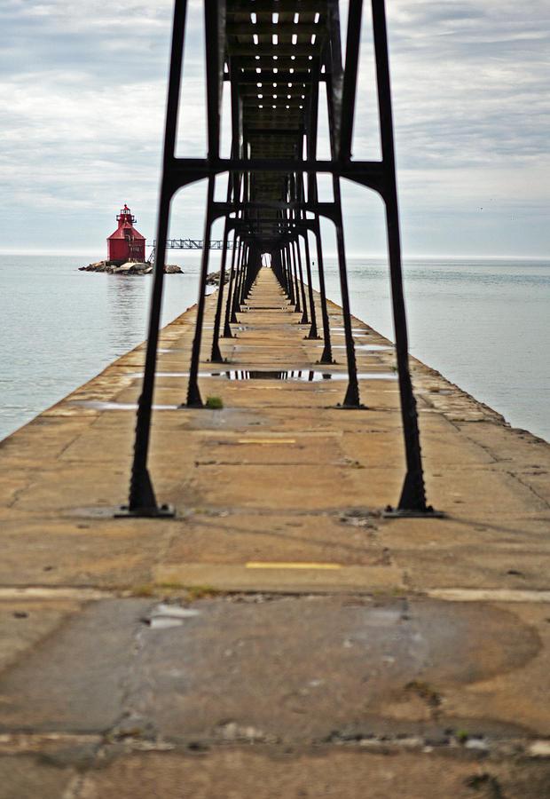 Door County Photograph - Lighthouse Walk by Ty Helbach