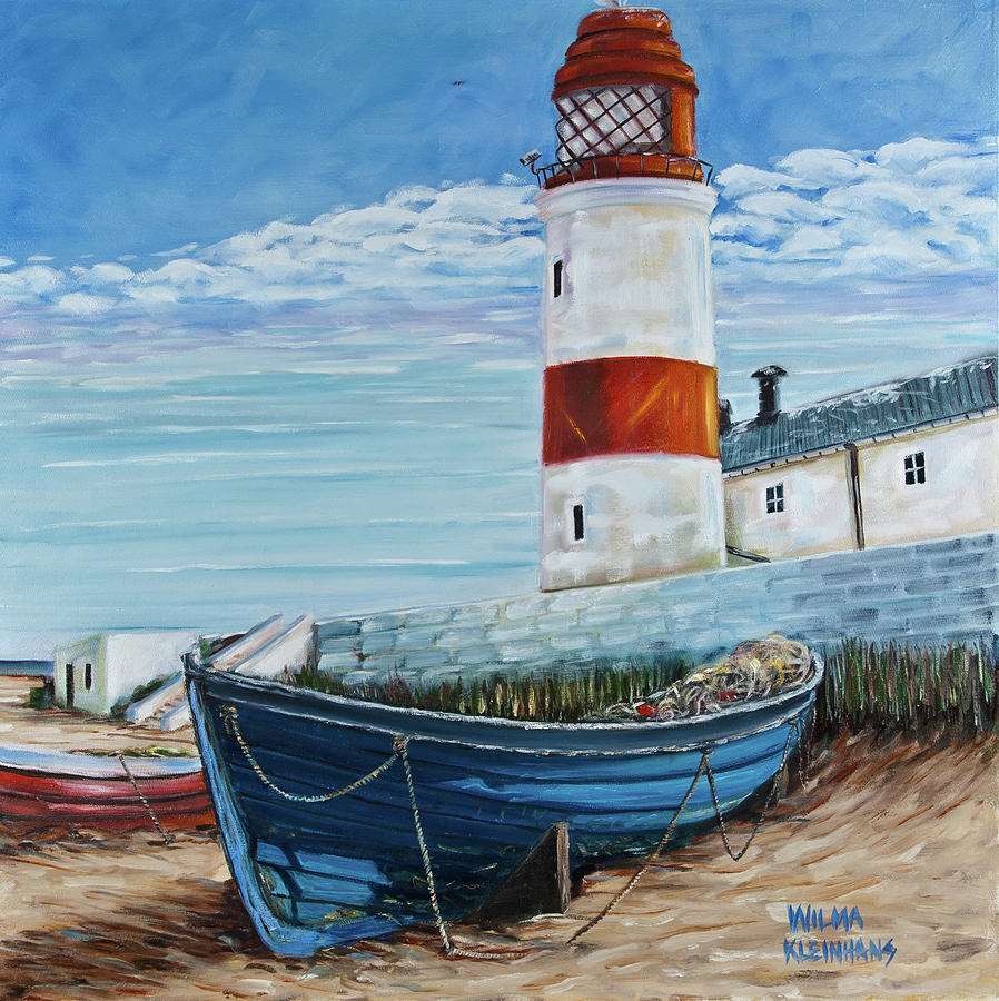 Famous Beach Lighthouse Boat Painting