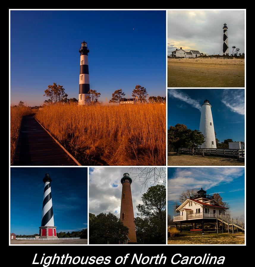 Lighthouses Of North Carolina Photograph By William Bentley