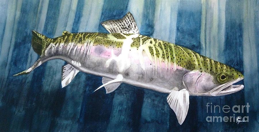 Salmon Painting - Lighting by Jason Bordash