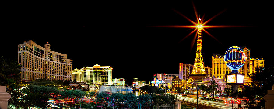 Las Vegas Photograph - Lighting Up Vegas by Az Jackson