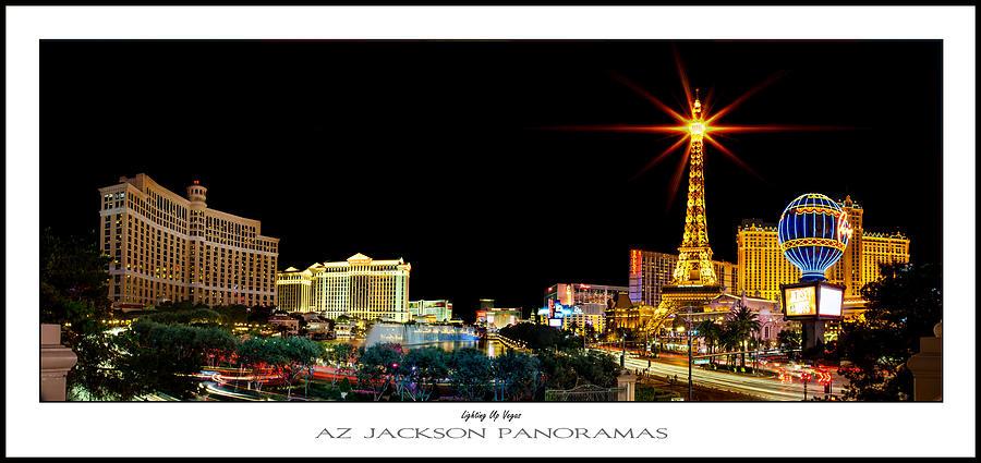 Las Vegas Photograph - Lighting Up Vegas Poster Print by Az Jackson