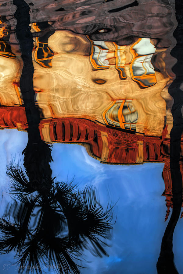 Lightner Koi Pond reflection II by Stacey Sather