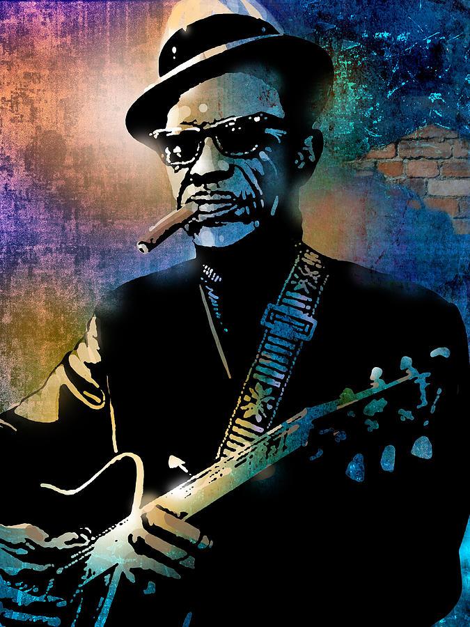 Blues Painting - Lightnin Hopkins by Paul Sachtleben
